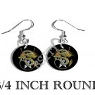 DRAGON & SWORDS PHOTO FISH HOOK CHARM Earrings