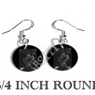 GOTHIC CROSS GOTH SKULLS PHOTO FISH HOOK CHARM Earrings
