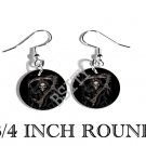 GRIM REAPER EVIL SICKLE PHOTO FISH HOOK CHARM Earrings