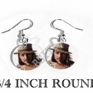 JOHNNY DEPP PHOTO FISH HOOK CHARM Earrings