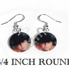 KENNY CHESNEY PHOTO FISH HOOK CHARM Earrings