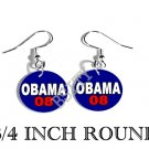 OBAMA PRESIDENT PHOTO FISH HOOK CHARM Earrings #2
