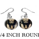 PHARAOH HEAD EGYPTIAN PHOTO FISH HOOK CHARM Earrings