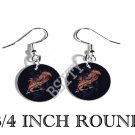 RED CHINESE DRAGON PHOTO FISH HOOK CHARM Earrings