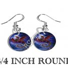 RED DRAGON MOONLIGHT PHOTO FISH HOOK CHARM Earrings