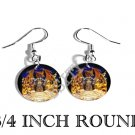 WIZARD DRAGON FANTASY PHOTO FISH HOOK CHARM Earrings