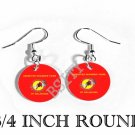 ABSENTEE SHAWNEE INDIAN Flag FISH HOOK CHARM Earrings