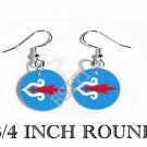 AINU UTARI JAPAN RUSSIA Flag FISH HOOK CHARM Earrings