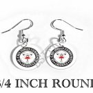 AK-CHIN NATIVE INDIAN Flag FISH HOOK CHARM Earrings