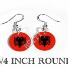 ALBANIAN ALBANIA Flag FISH HOOK CHARM Earrings