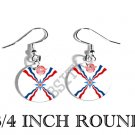 ASSYRIAN Ata D'Atoor Flag FISH HOOK CHARM Earrings