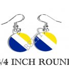 Alemanys Nord Slesvig Flag FISH HOOK CHARM Earrings