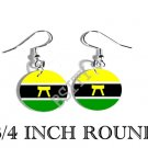 Ashanti Asante GHANA Flag FISH HOOK CHARM Earrings