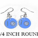 BLACKFOOT TRIBE INDIAN Flag FISH HOOK CHARM Earrings
