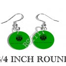 BULGARIAN HUNGARIAN Flag FISH HOOK CHARM Earrings