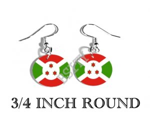 BURUNDI BURUNDIAN Flag FISH HOOK CHARM Earrings