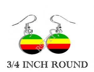 Bamileke National Movement Flag FISH HOOK CHARM Earrings
