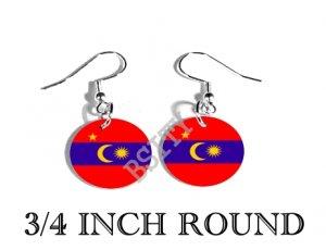 Barisan Revolusi Nasional Flag FISH HOOK CHARM Earrings