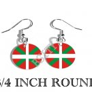 Basque NATIONALIST Ikurriña Flag FISH HOOK CHARM Earrings