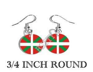 Basque NATIONALIST Ikurriña Flag FISH HOOK CHARM Earrings