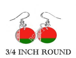 Belarus Belarusian Flag FISH HOOK CHARM Earrings