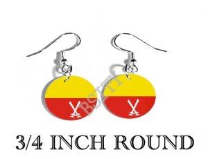Bodo Liberation Tigers Flag FISH HOOK CHARM Earrings