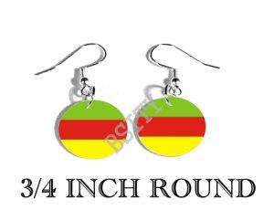 Bodoland INDIA Flag FISH HOOK CHARM Earrings