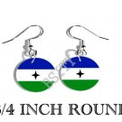 Bubi People BANTU GUINEA Flag FISH HOOK CHARM Earrings