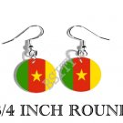 CAMEROON Cameroonian Flag FISH HOOK CHARM Earrings