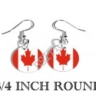 CANADA CANADIAN Flag FISH HOOK CHARM Earrings