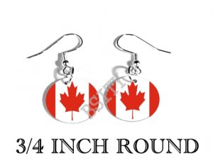 CANADA CANADIAN Flag FISH HOOK CHARM Earrings