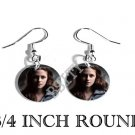 BELLA SWAN TWILIGHT PHOTO FISH HOOK CHARM Earrings