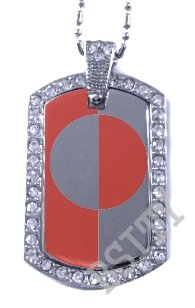 GREENLAND GREENLANDIC FLAG Iced Out CZ BLING Charm Dog Tag