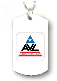 AVL AMERICAN VAMPIRE LEAGUE TRUE Dog Tag DOGTAG CUSTOM NECKLACE Pendant Jewelry