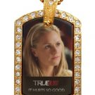 SOOKIE 2 TRUE BLOOD PHOTO GOLD CZ BLING CHARM Dog Tag NECKLACE