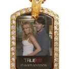 SOOKIE BILL TRUE BLOOD PHOTO GOLD CZ BLING CHARM Dog Tag NECKLACE