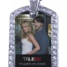 SOOKIE BILL TRUE BLOOD PHOTO SILVER CZ BLING CHARM Dog Tag NECKLACE