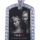SOOKIE ERIC TRUE BLOOD PHOTO SILVER CZ BLING CHARM Dog Tag NECKLACE