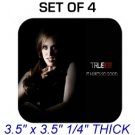 JESSICA HAMBY TRUE BLOOD Photo SET 4 DRINK SQUARE COASTERS