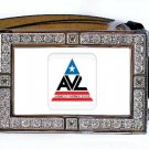 AVL VAMPIRE LEAGUE TRUE BLOOD BLING ICED OUT CZ SILVER BELT BUCKLE