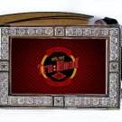 TRUE TRU BLOOD DRINK BLING ICED OUT CZ SILVER BELT BUCKLE