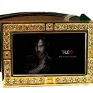 SAM MERLOTTE PHOTO TRUE BLOOD BLING CZ GOLD BELT BUCKLE