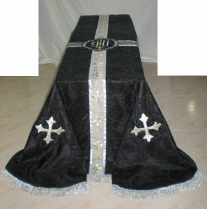 Black Funeral Pall Size: 8' x 12' Latin Requiem Mass Traditional Catholic Lined