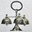 "Sanctuary Chapel Altar Bells Three Bells Nickel Electroplated Brass 6"" x 6"" NEW"