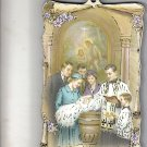 "Traditional Catholic Baptism Wood Plaque 4"" x 5 3/4"""