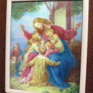 Catholic Picture Print Art Jesus with Children Full Color  8 x 10  3D  Vogel