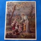 Catholic Picture Print Art Mary with Children by Simeone 13 x 17 Size