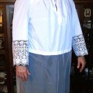 "Alb Vestment Lace Beau Veste Custom Lace Sleeves 7 1/2"", Lace Bottom 42"""