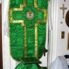 Chasuble Set Green Fiddleback Vestment  Includes Veil,Burse,Maniple,Stole NEW