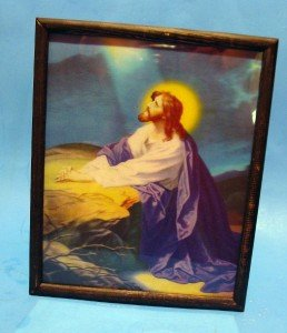 Catholic Picture Print Jesus Agony in Garden of Olives 3 Dimension 8x10 Artwork